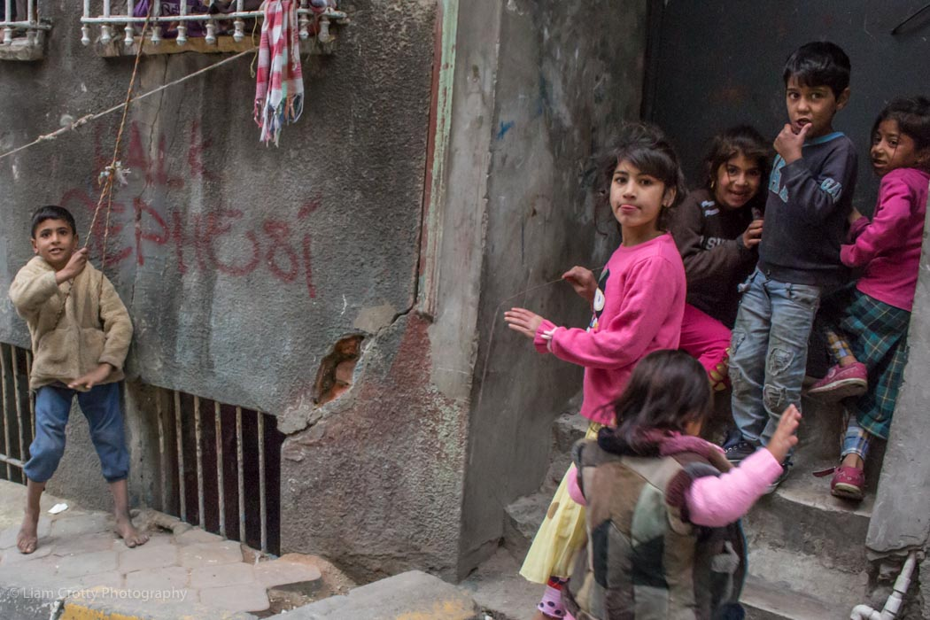 Children playing in the street - Istanbul, Turkey