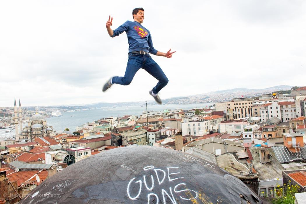 Superman on top of the Grand Bazaar